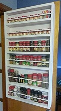 Large wooden spice organizer